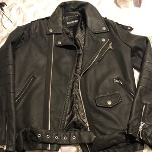Express Moto Faux Leather Jacket